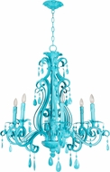 Craftmade 25626-TQ Englewood Contemporary Turquoise Chandelier Lighting