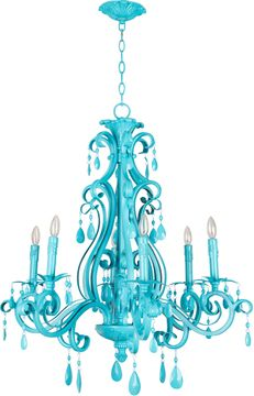 Craftmade 25626-TQ Englewood Turquoise Chandelier Light