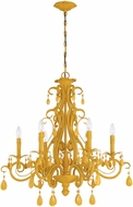 Craftmade 25626-TY Englewood Tourmaline Yellow Ceiling Chandelier