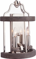 Craftmade 36502-PLNGRW Ashwood Polished Nickel / Greywood Wall Lamp