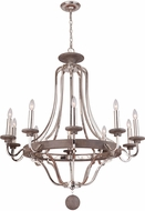 Craftmade 36510-PLNGRW Ashwood Polished Nickel / Greywood Chandelier Lamp