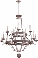 Craftmade 36515-PLNGRW Ashwood Polished Nickel / Greywood Chandelier Light