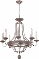 Craftmade 36528-PLNGRW Ashwood Polished Nickel / Greywood Ceiling Chandelier