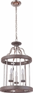 Craftmade 36533-PLNGRW Ashwood Polished Nickel / Greywood 16  Foyer Lighting