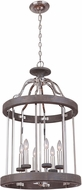 Craftmade 36536-PLNGRW Ashwood Polished Nickel / Greywood 20  Foyer Light Fixture