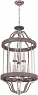 Craftmade 36539-PLNGRW Ashwood Polished Nickel / Greywood Foyer Lighting Fixture