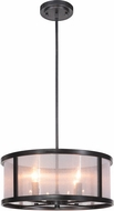 Craftmade 36794-MBK Danbury Matte Black 18  Drum Pendant Light