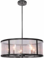 Craftmade 36795-MBK Danbury Matte Black 25  Drum Lighting Pendant