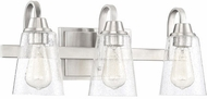 Craftmade 41903-BNK-CS Grace Brushed Polished Nickel 3-Light Bathroom Lighting Sconce