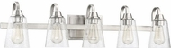 Craftmade 41905-BNK-CS Grace Brushed Polished Nickel 5-Light Bathroom Lighting