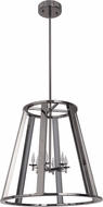 Craftmade 42436-BCH-LED Opus Contemporary Black Chrome LED 20  Foyer Light Fixture