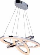 Craftmade 42724-CH-LED Anillo Contemporary Chrome LED Hanging Chandelier