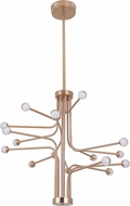 Craftmade 43016-SB-LED Solis Contemporary Satin Brass LED Hanging Chandelier