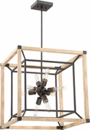 Craftmade 43738-TBDO Tesseract Modern Textured Black / Distressed Oak 21  Entryway Light Fixture
