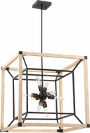Craftmade 43739-TBDO Tesseract Contemporary Textured Black / Distressed Oak 24  Foyer Lighting