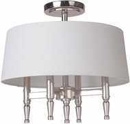 Craftmade 44654-PLN Ella Polished Nickel Flush Ceiling Light Fixture