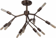Craftmade 44752-PAB Aspen Contemporary Patina Aged Brass Overhead Lighting Fixture