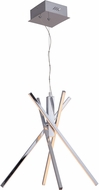 Craftmade 45724-CH-LED Pinnacle Contemporary Chrome LED Chandelier Lighting