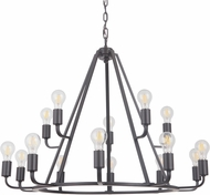 Craftmade 45915-OBG Arc Contemporary Oil Bronze Gilded 35 Chandelier Lamp