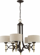 Craftmade 46325-ANGBZ Colonial Antique Gold / Bronze Ceiling Chandelier