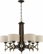 Craftmade 46327-ANGBZ Colonial Antique Gold / Bronze Hanging Chandelier