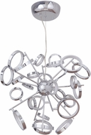 Craftmade 47126-CH-LED Mira Contemporary Chrome LED Adjustable Hanging Chandelier