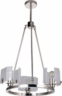 Craftmade 47623-PLN Trouvaille Contemporary Polished Nickel Mini Hanging Chandelier