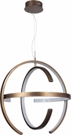 Craftmade 47890-PAB-LED Dolby Contemporary Patina Aged Brass LED 31.5  Pendant Hanging Light