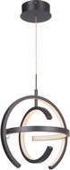 Craftmade 47891-MBK-LED Dolby Modern Matte Black LED 14  Hanging Light Fixture