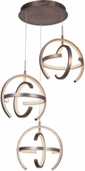 Craftmade 47893-PAB-LED Dolby Contemporary Patina Aged Brass LED Multi Ceiling Light Pendant