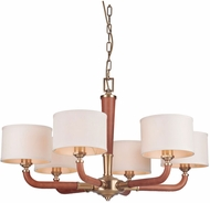 Craftmade 48126-VB Huxley Contemporary Vintage Brass Hanging Chandelier