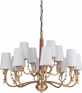 Craftmade 48212-VB Churchill Vintage Brass Ceiling Chandelier