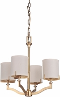 Craftmade 48324-VB Devlyn Vintage Brass Mini Chandelier Lighting
