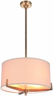 Craftmade 48393-VB Devlyn Vintage Brass Drum Pendant Light