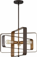 Craftmade 48593-ABZ Linked Contemporary Aged Bronze Brushed 22  Lighting Pendant