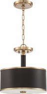 Craftmade 48852-SB Quinn Satin Brass Drum Pendant Lighting Fixture