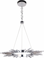 Craftmade 49121-CH-LED Korona Modern Chrome LED 32  Drop Ceiling Light Fixture