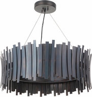 Craftmade 49491-FS-LED Bastion Contemporary Fired Steel LED 30  Pendant Lighting