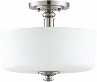 Craftmade 49853-BNK Dardyn Brushed Polished Nickel Flush Lighting