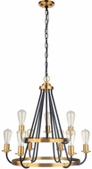 Craftmade 50329-FBSB Randolph Contemporary Flat Black and Satin Brass Ceiling Chandelier