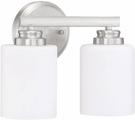 Craftmade 50502-BNK-WG Bolden Brushed Polished Nickel 2-Light Bathroom Light