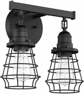 Craftmade 50602-FB Thatcher Flat Black 2-Light Vanity Light Fixture