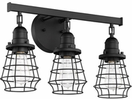 Craftmade 50603-FB Thatcher Flat Black 3-Light Bathroom Wall Sconce