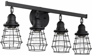 Craftmade 50604-FB Thatcher Flat Black 4-Light Bathroom Lighting Sconce