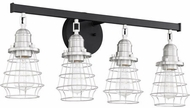 Craftmade 50604-FBBNK Thatcher Flat Black and Brushed Polished Nickel 4-Light Bathroom Sconce Lighting
