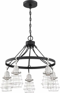 Craftmade 50625-FBBNK Thatcher Flat Black and Brushed Polished Nickel Ceiling Chandelier