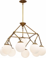 Craftmade 50729-PAB Orion Contemporary Patina Aged Brass Ceiling Chandelier