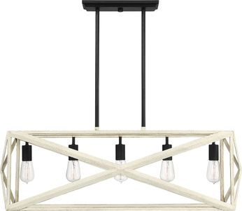 Craftmade 51875-CWESP Hansel Modern Cottage White/Espresso Kitchen Island Light Fixture