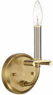 Craftmade 54861-BNKSB Stanza Brushed Polished Nickel / Satin Brass Candle Wall Lighting Sconce