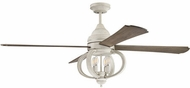 Craftmade AUG60CW4 Augusta Traditional Cottage White LED 60  Ceiling Fan